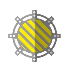 Cartoon gear construction engine work stripes vector