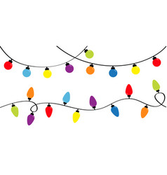 Christmas lights holiday festive xmas decoration vector