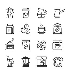 coffee restaurant and cafe machine icon beverage vector image