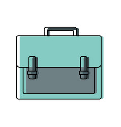 color briefcase object to save documents paper vector image