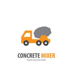 Concrete mixer logo for business company simple vector