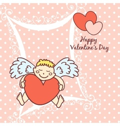 Cupid cute card for Valentines Day vector
