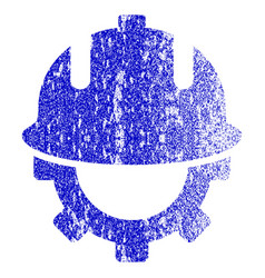 Development helmet grunge textured icon vector