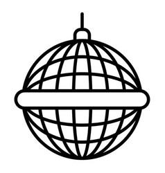 disco mirror ball icon outline style vector image