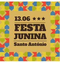 Festa junina traditional brazil june vector