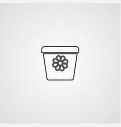 flower pot icon sign symbol vector image