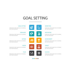Goal setting infographic 10 option conceptdream vector