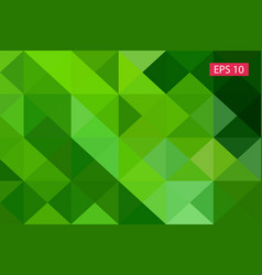 Green abstract geometric background from vector