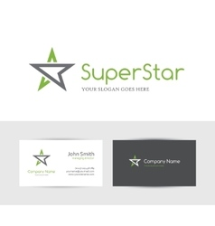 Green star logo vector
