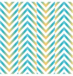 herringbone zig zag chevron pattern in blue yellow vector image