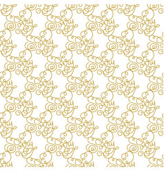 holiday gift seamless pattern with hand lettering vector image