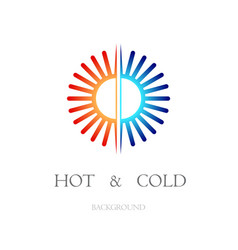 hot and cold white background vector image