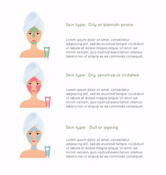 How to apply multiple face masks face care vector