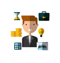 invest money and business design vector image