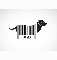 Labrador dog on the body is a barcode animals pet vector