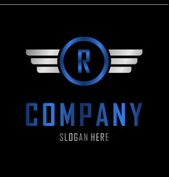 letter r automotive creative business logo vector image
