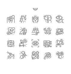 life skill well-crafted pixel perfect icons vector image