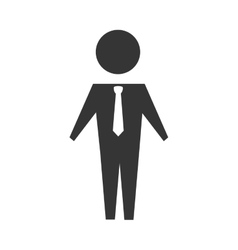 man suit tie business icon graphic vector image