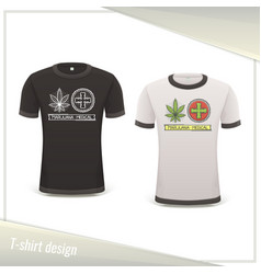 Medical marijuana tshirt three vector