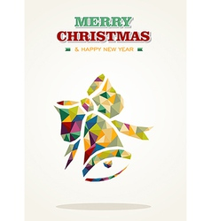 Merry Christmas contemporary triangle greeting vector