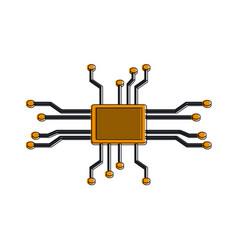 microchip technology symbol vector image
