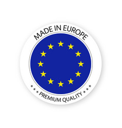 Modern made in europe label european sticker vector