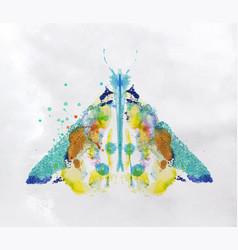 monotype vivid moth vector image