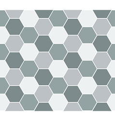 Multicolored hexagon geometric seamless background vector