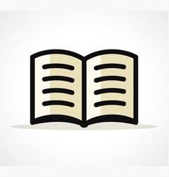 open book design clipart vector image