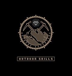 outdoor label vector image