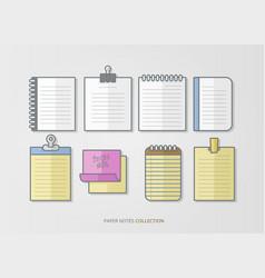 paper notes design set vector image