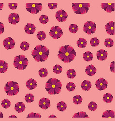 Pink purple and lilac flowers seamless pattern vector