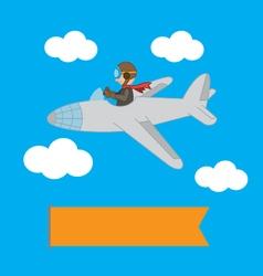 Plane in the sky vector