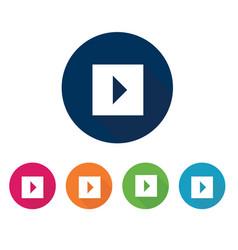 play button icon set flat design vector image