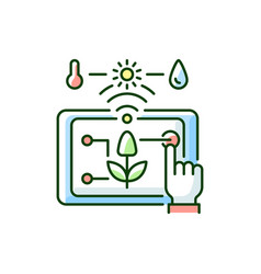 Precision agriculture rgb color icon vector