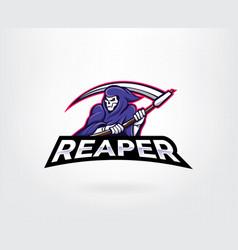 reaper mascot character logo vector image