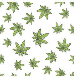 Seamless texture marijuana three vector