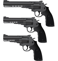 set of pistols vector image vector image