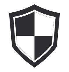 Single shield icon vector