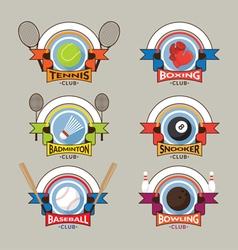 Sport Logo Emblem Badge Banner vector