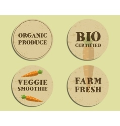 Stylish Farm Fresh label template with carrot vector image