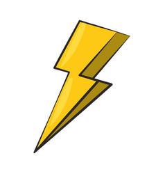 Thunder energy electric power cartoon vector