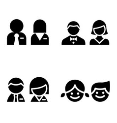 toilet icon great for any use symbol set vector image