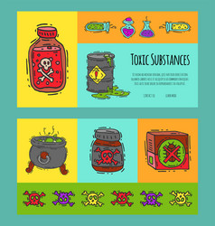 Toxic industry concept banners vector