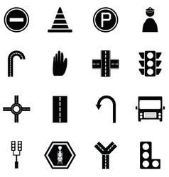 traffic icon set vector image