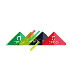 triangle data visualization design option vector image