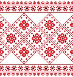 Ukrainian Eastern European folk art pattern vector