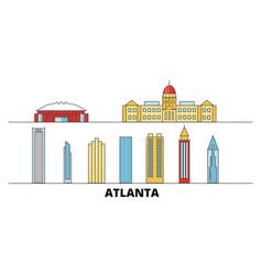 United states atlanta flat landmarks vector