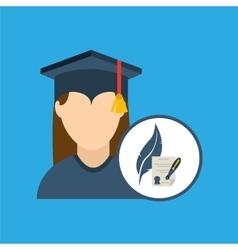 University grad icon vector