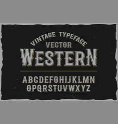 vintage label font retro font vector image